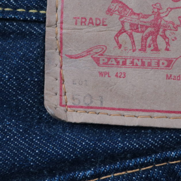 1966年〜1967年頃のリーバイス501の紙パッチ
