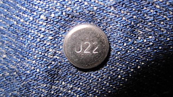 リーバイス501のトップボタン裏の刻印