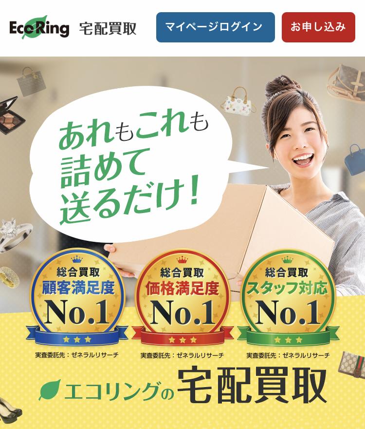 エコリングの宅配買取の申込画面